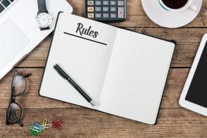 writing a novel rule book